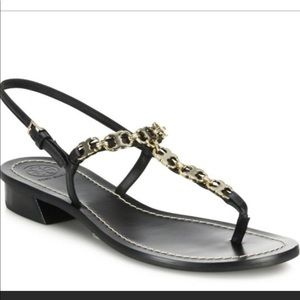 Tory Burch Gemini Link Leather Sandals
